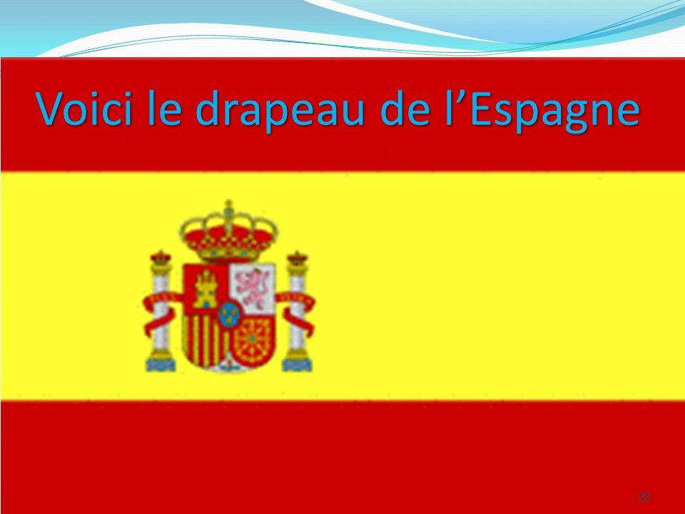 Voici le drapeau de lEspagne 28