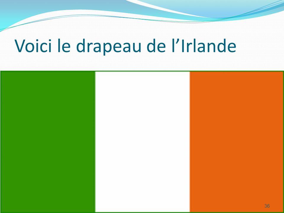 Voici le drapeau de lIrlande 36