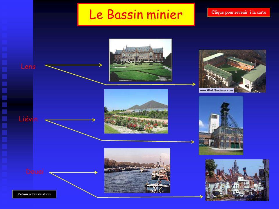 Le Bassin minier Lens Liévin Douai Clique pour revenir à la carte Retour à lévaluation
