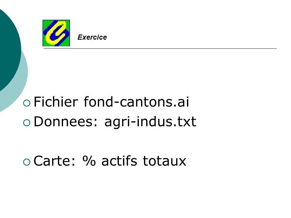 Fichier fond-cantons.ai Donnees: agri-indus.txt Carte: % actifs totaux Exercice