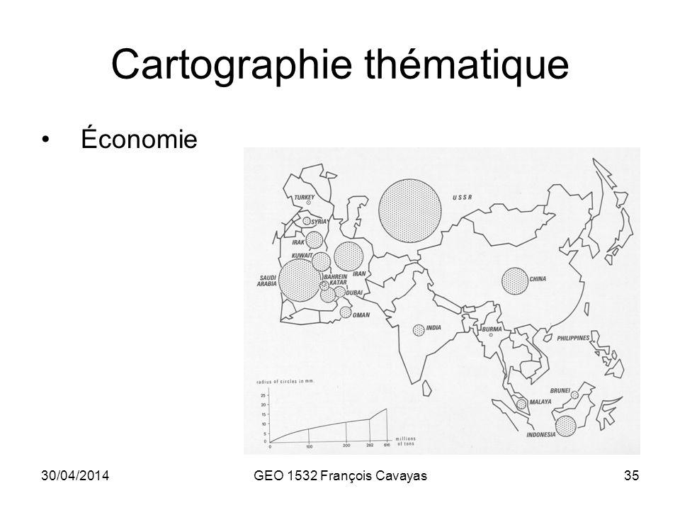 30/04/2014GEO 1532 François Cavayas35 Cartographie thématique Économie