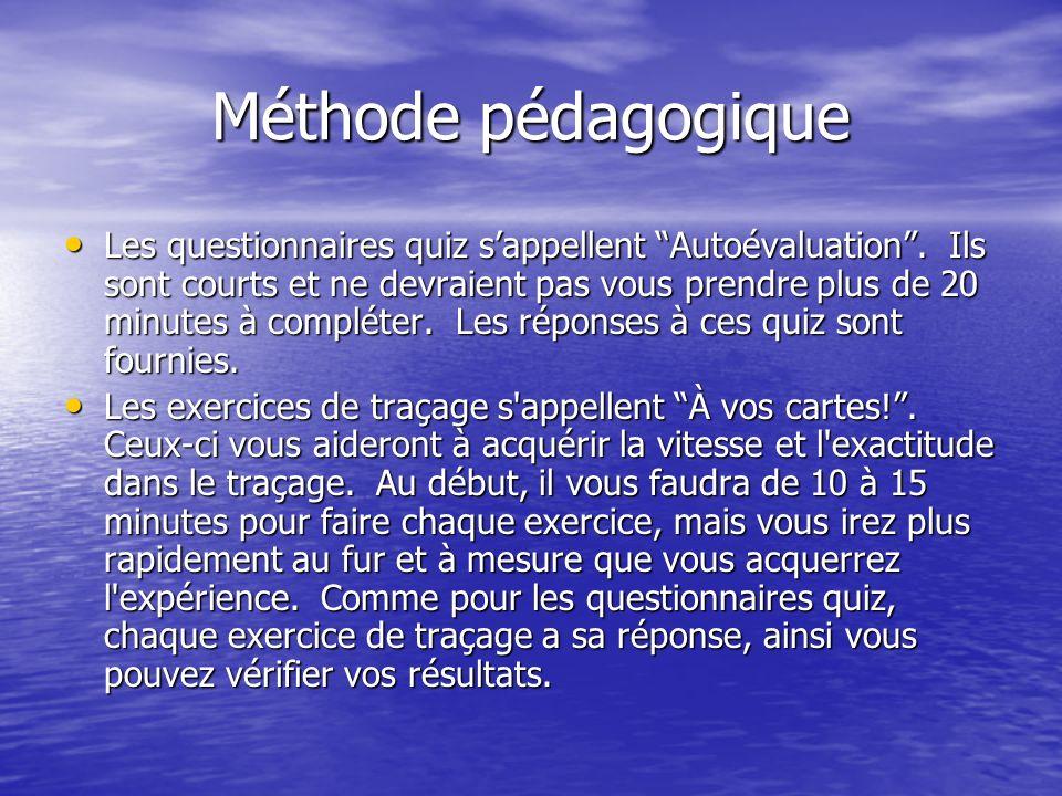 Méthode pédagogique Les questionnaires quiz sappellent Autoévaluation. Ils sont courts et ne devraient pas vous prendre plus de 20 minutes à compléter