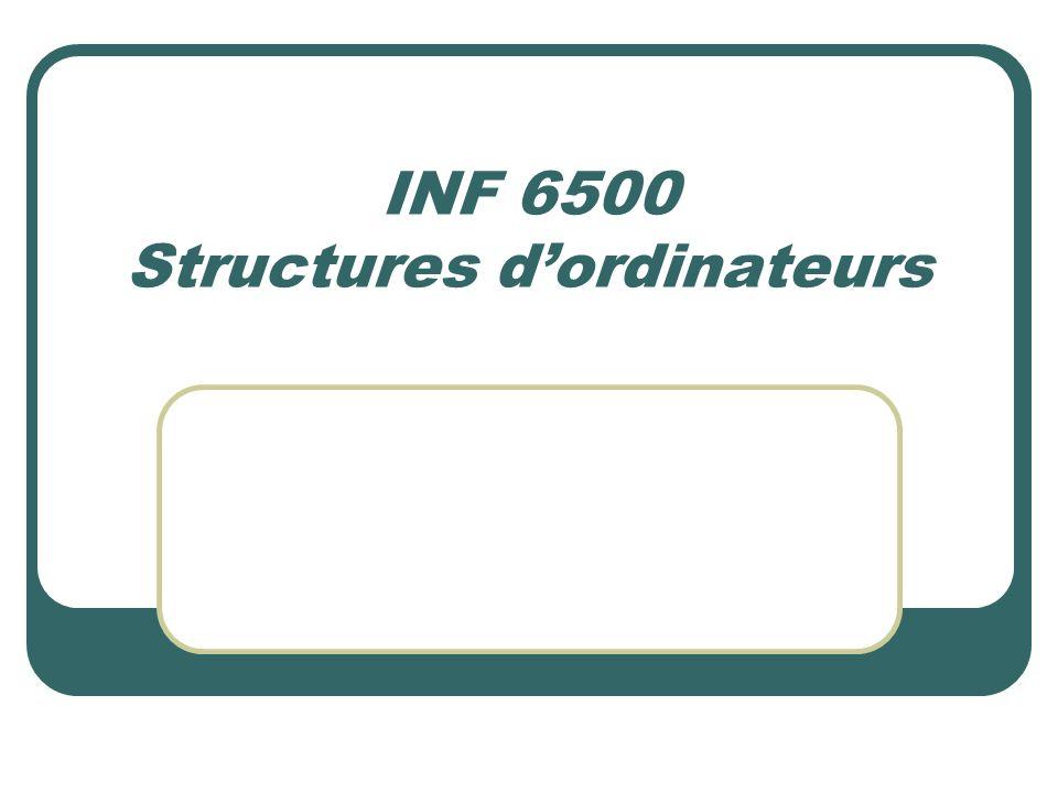INF 6500 Structures dordinateurs