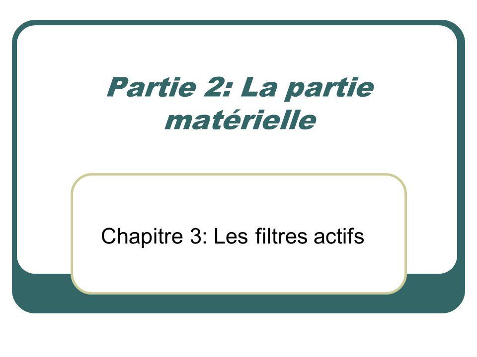 Partie 2: La partie matérielle Chapitre 3: Les filtres actifs