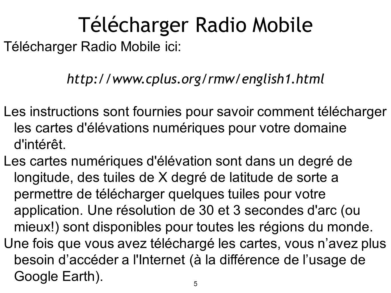 6 Utiliser Radio Mobile Supposons que Radio Mobile est déjà correctement installé sur votre ordinateur (les instructions d installation sont fournies dans la page de téléchargement).