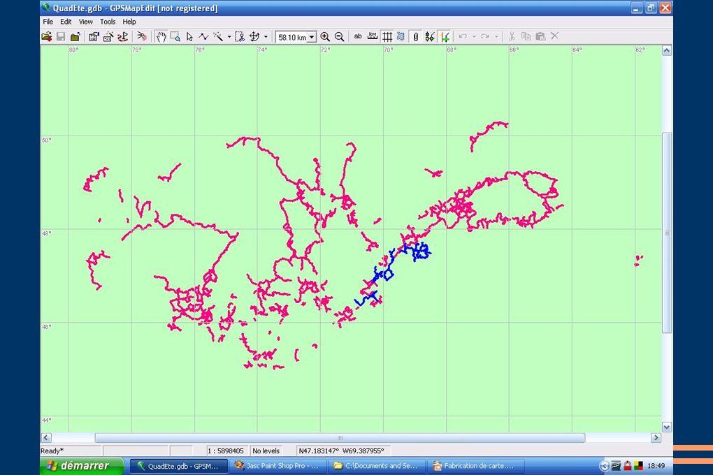 Conversion des tracés en polyline Voir images suivantes