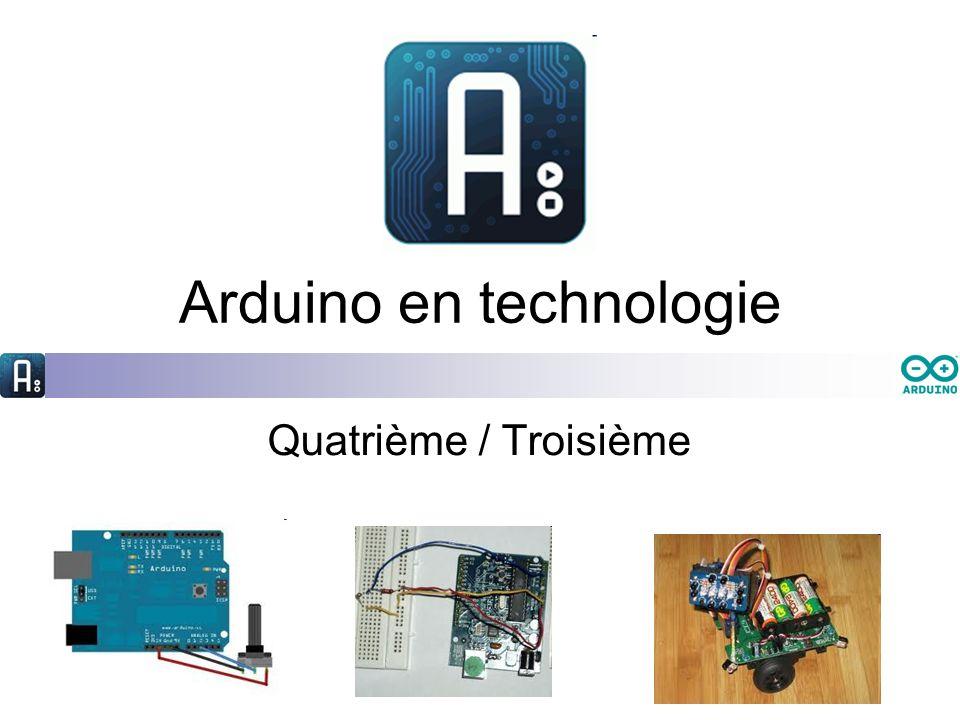 Arduino en technologie Quatrième / Troisième