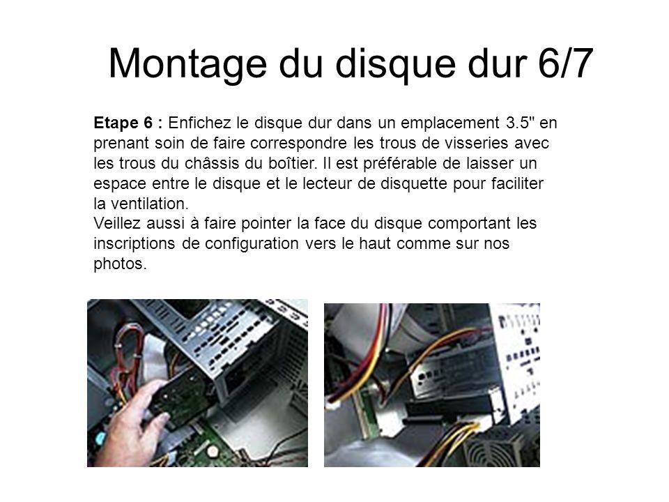 Montage du disque dur 6/7 Etape 6 : Enfichez le disque dur dans un emplacement 3.5
