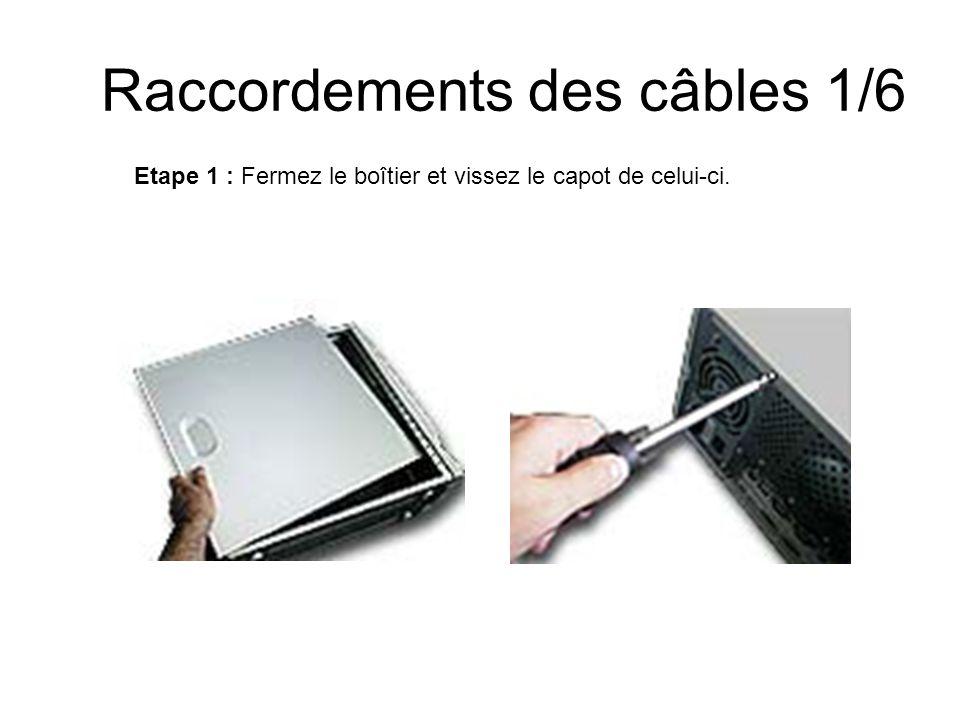 Raccordements des câbles 1/6 Etape 1 : Fermez le boîtier et vissez le capot de celui-ci.