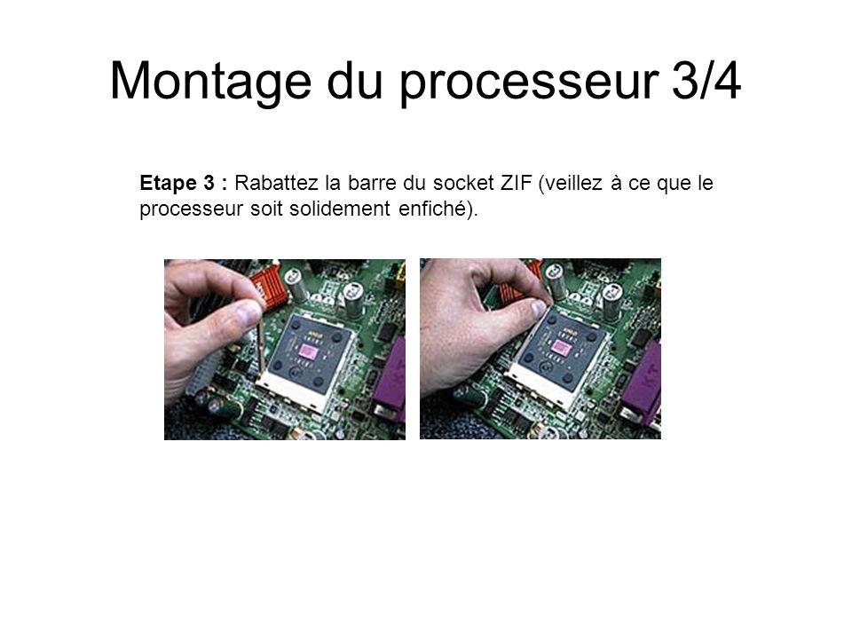 Terminologie 1/2 CPU : (Central Processing Unit) : le processeur -Taille de laccumulateur (nombre de chiffre max) - Fréquence (nombre dopération à la seconde).