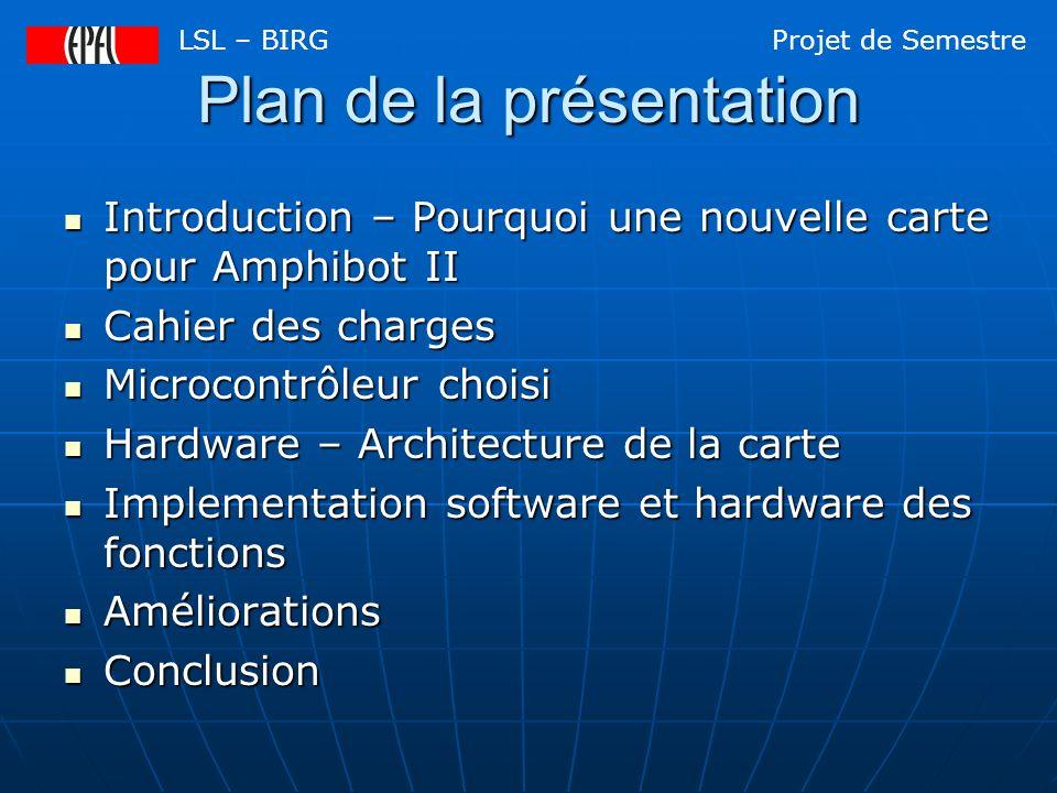 Introduction Pourquoi avoir besoin dune nouvelle carte pour Amphibot II.