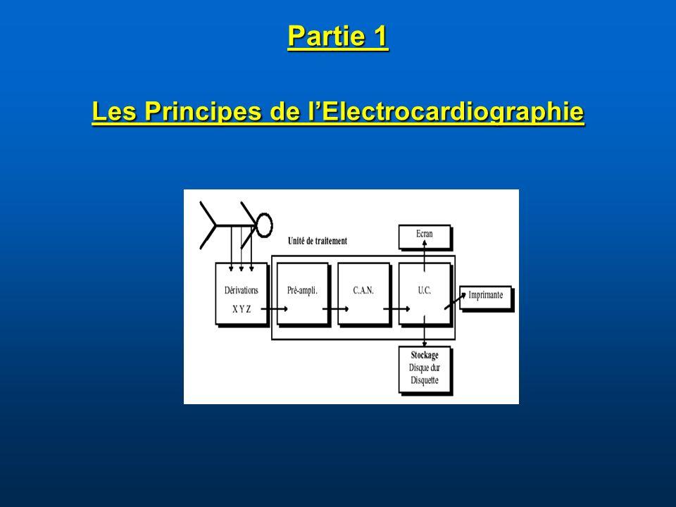 Partie 1 Les Principes de lElectrocardiographie