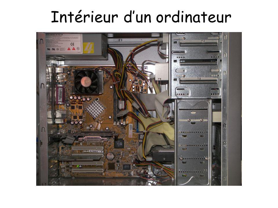 Intérieur dun ordinateur