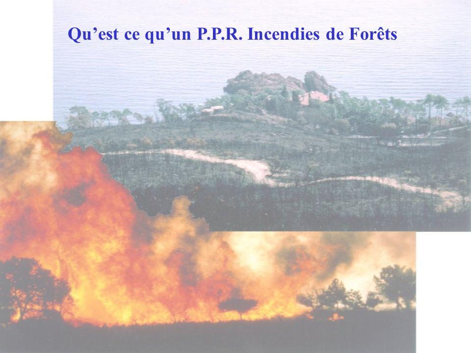 Quest ce quun P.P.R. Incendies de Forêts
