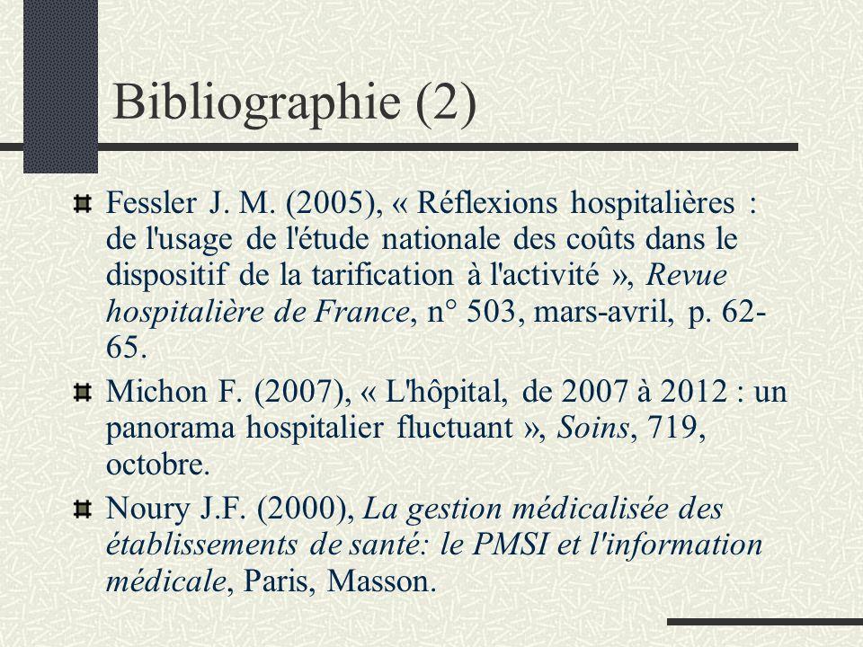 Bibliographie Apollis B., Terrier E., (2006), L'état de la réforme hospitalière. La réforme de la planification hospitalière, Actualité juridique. Dro