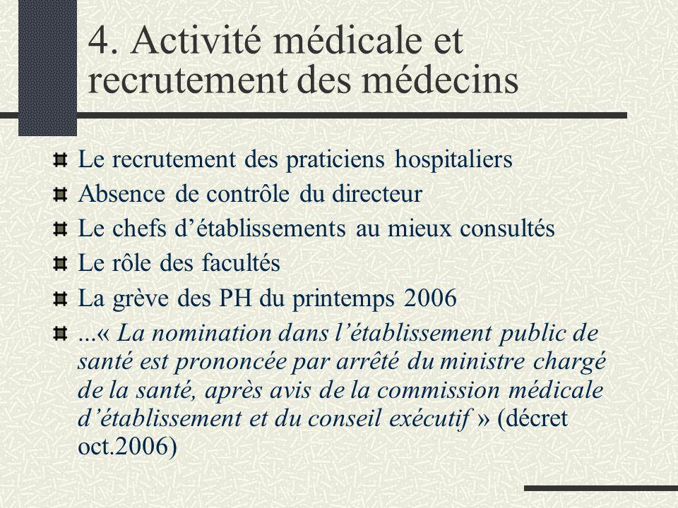 3. Autonomie de principe et tutelle au quotidien Les hôpitaux, maîtres de leur organisation interne Lamendement « liberté » (autorise le conseil d'adm