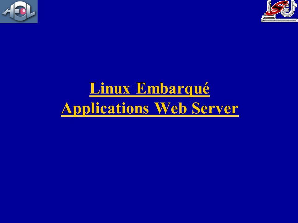 Linux Embarqué Applications Web Server