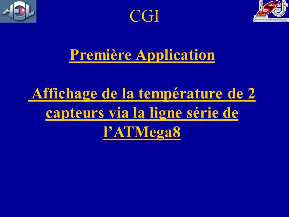 Première Application Affichage de la température de 2 capteurs via la ligne série de lATMega8