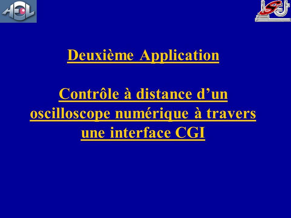 Deuxième Application Contrôle à distance dun oscilloscope numérique à travers une interface CGI