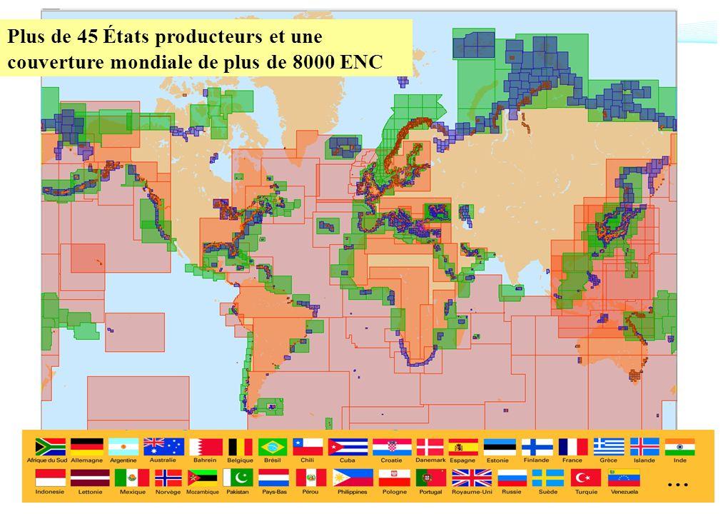 SHOM – Décembre 2008CETMEF Plus de 45 États producteurs et une couverture mondiale de plus de 8000 ENC