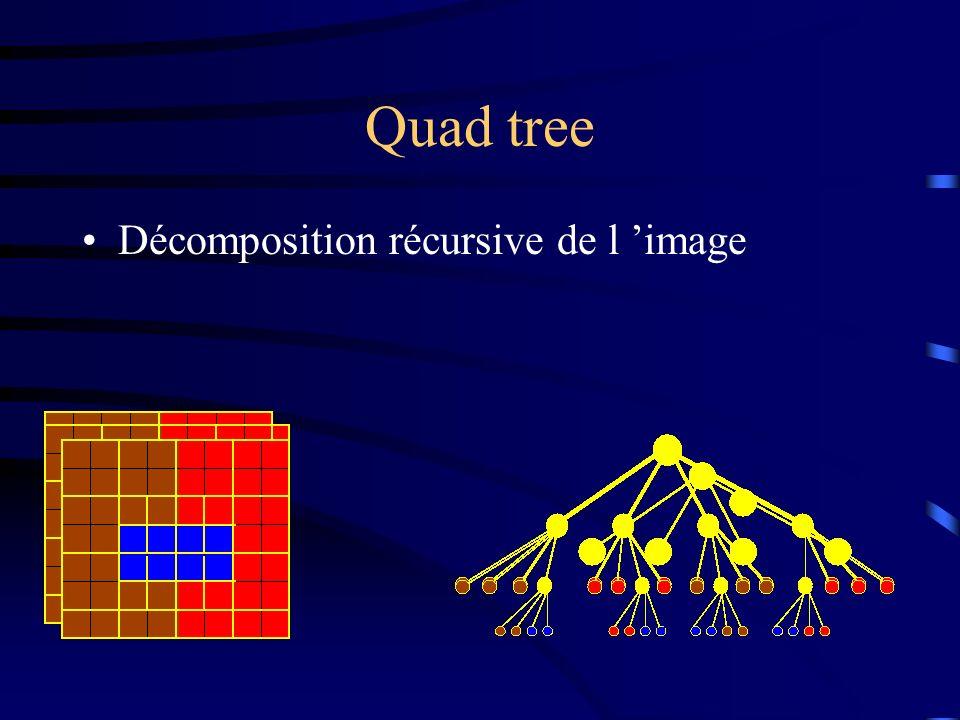 Quad tree Décomposition récursive de l image