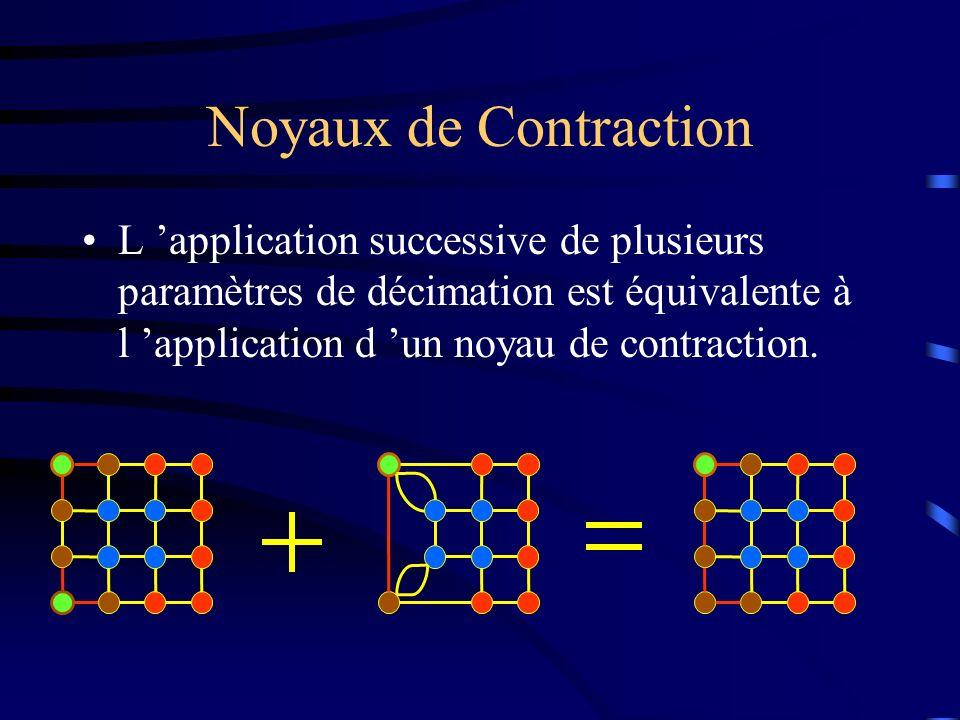Noyaux de Contraction L application successive de plusieurs paramètres de décimation est équivalente à l application d un noyau de contraction.