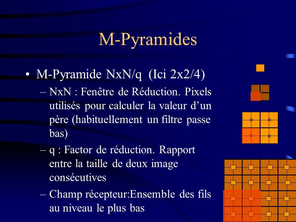 M-Pyramides M-Pyramide NxN/q (Ici 2x2/4) –NxN : Fenêtre de Réduction.