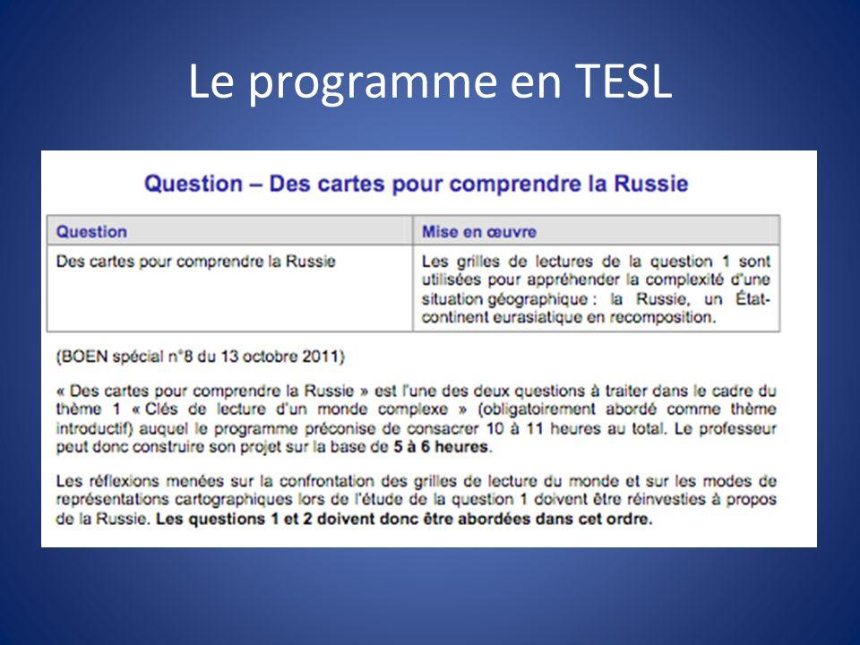 Le programme en TESL