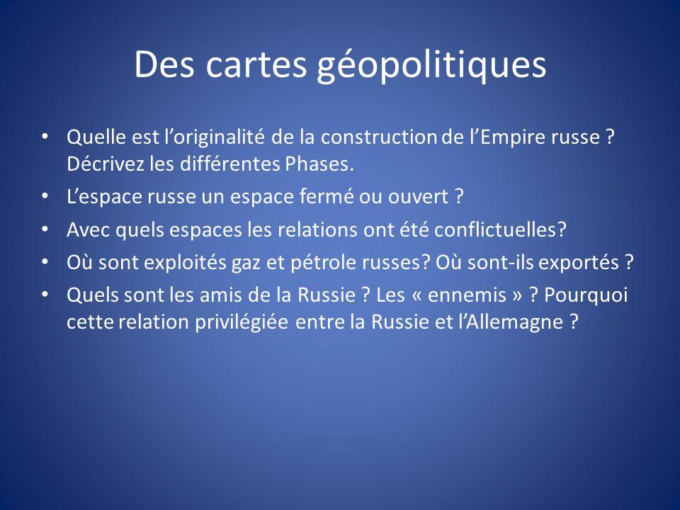 Des cartes géopolitiques Quelle est loriginalité de la construction de lEmpire russe .
