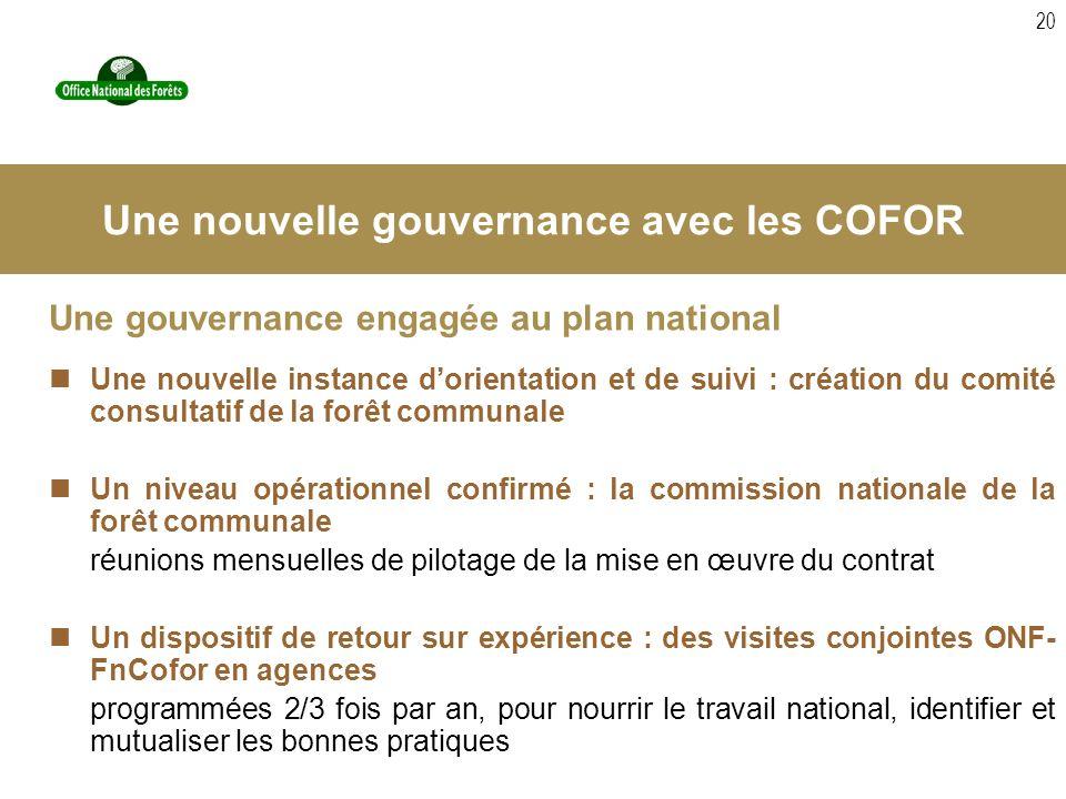 20 Une gouvernance engagée au plan national Une nouvelle instance dorientation et de suivi : création du comité consultatif de la forêt communale Un n