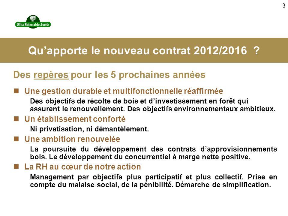 3 Des repères pour les 5 prochaines années Une gestion durable et multifonctionnelle réaffirmée Des objectifs de récolte de bois et dinvestissement en