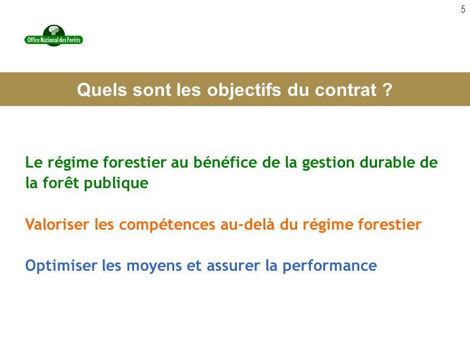 5 Le régime forestier au bénéfice de la gestion durable de la forêt publique Valoriser les compétences au-delà du régime forestier Optimiser les moyen