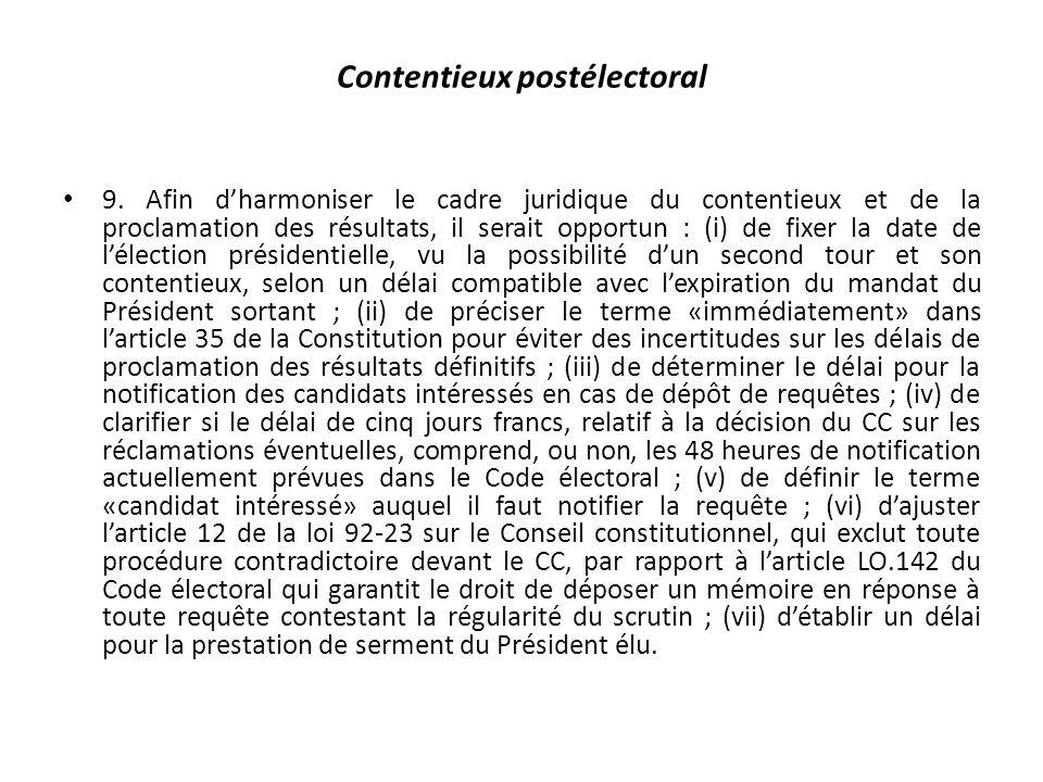 Contentieux postélectoral 9.