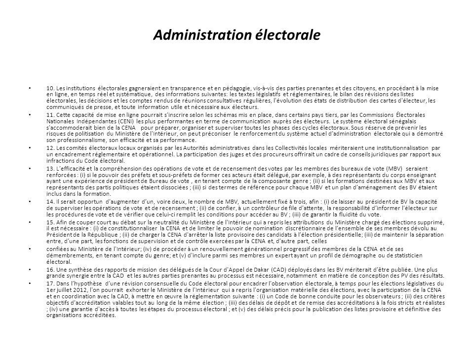 Administration électorale 10.