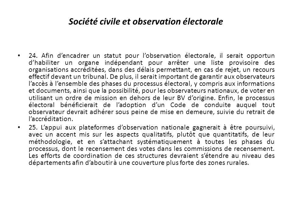 Société civile et observation électorale 24.