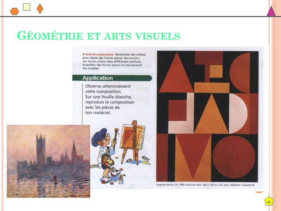 41 G ÉOMÉTRIE ET ARTS VISUELS