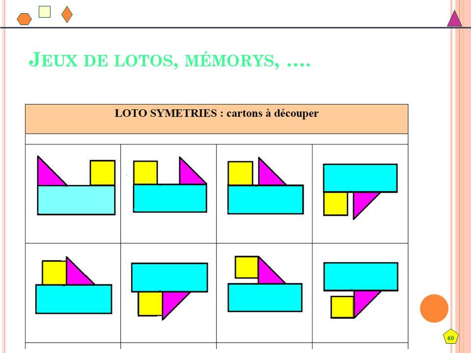 60 J EUX DE LOTOS, MÉMORYS, ….