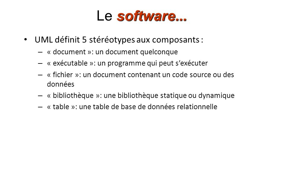 software...Le software...