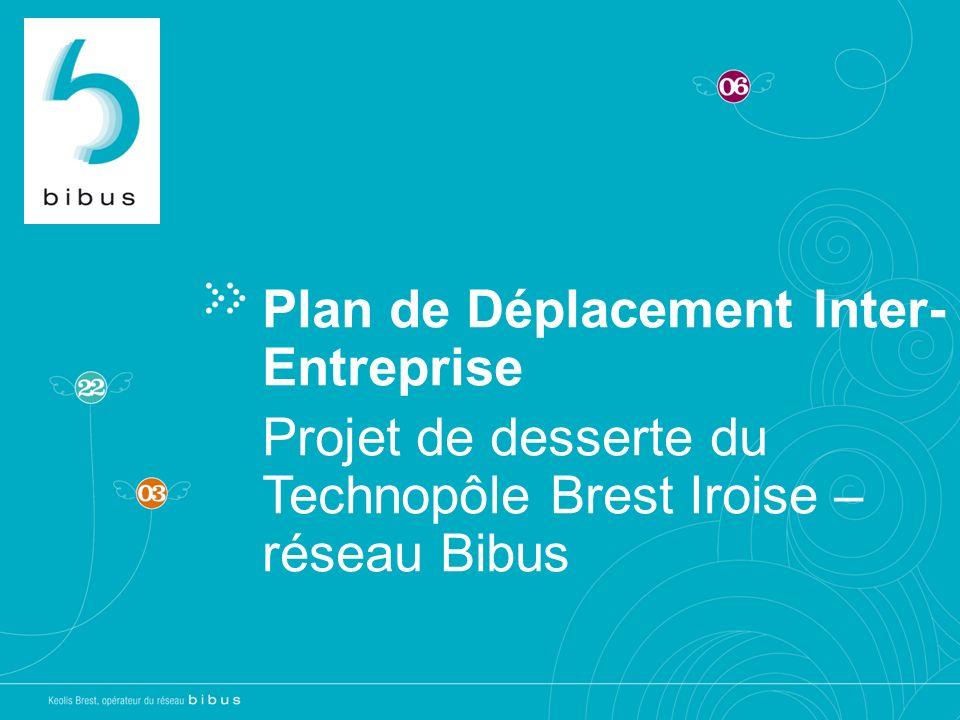 Plan de Déplacement Inter- Entreprise Projet de desserte du Technopôle Brest Iroise – réseau Bibus
