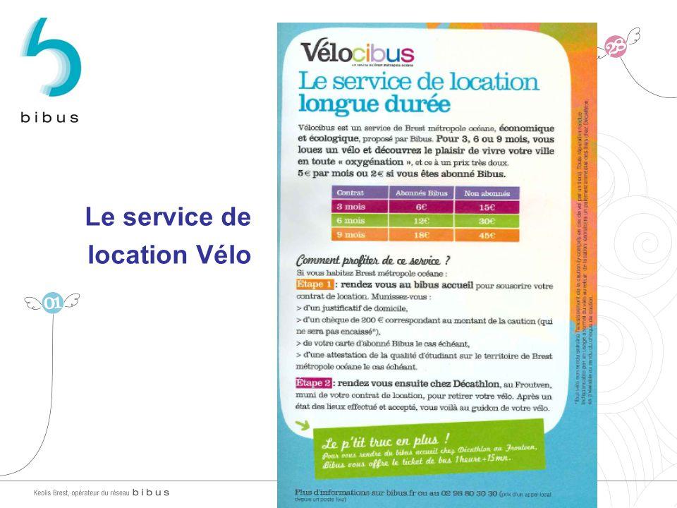 Le service de location Vélo