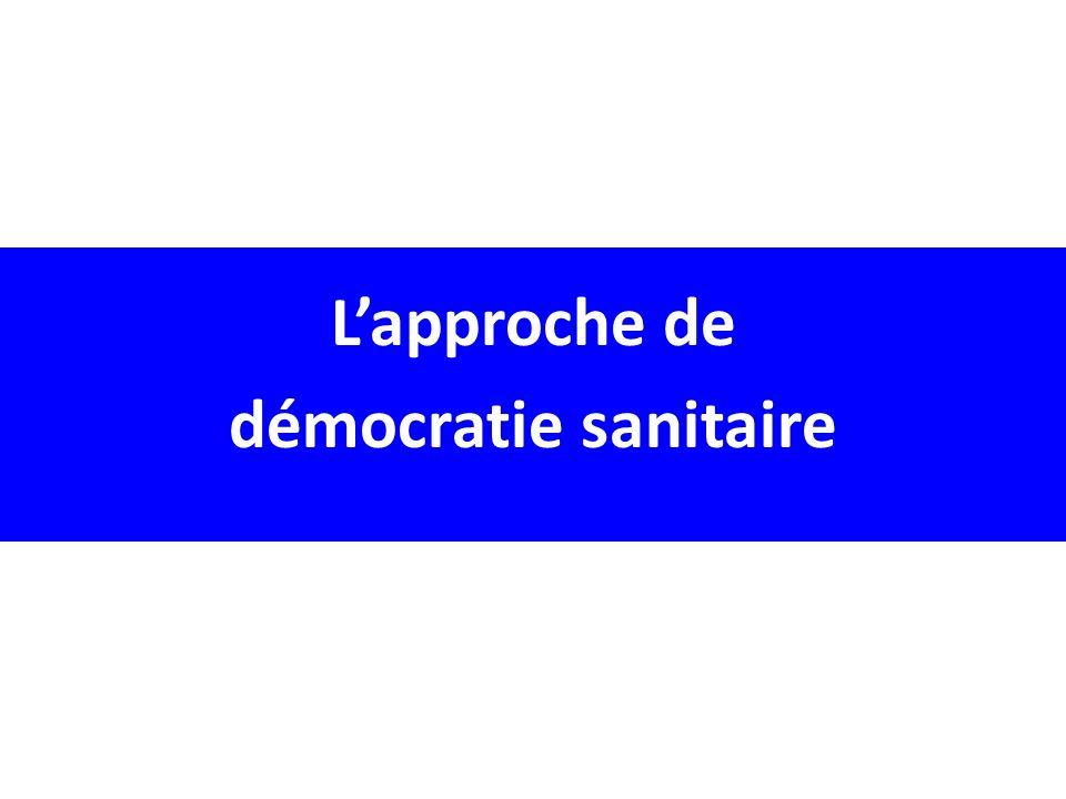 Lapproche de démocratie sanitaire