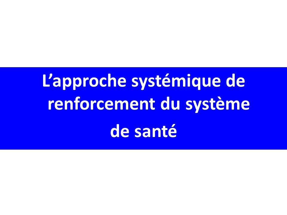 Lapproche systémique de renforcement du système de santé