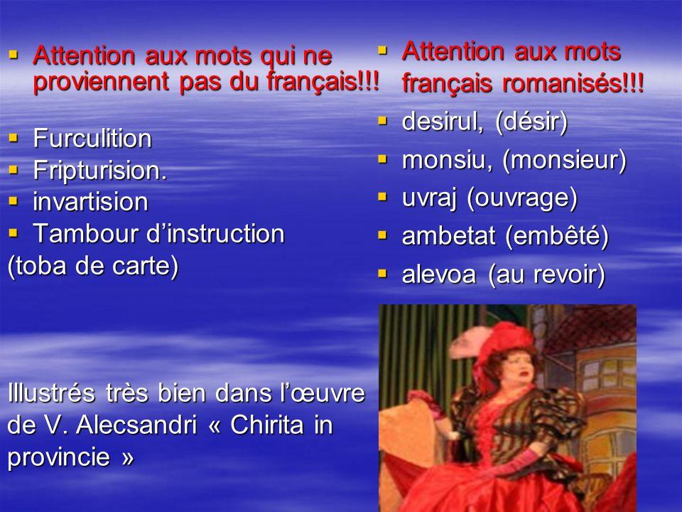 Attention aux mots qui ne proviennent pas du français!!! Attention aux mots qui ne proviennent pas du français!!! Furculition Furculition Fripturision