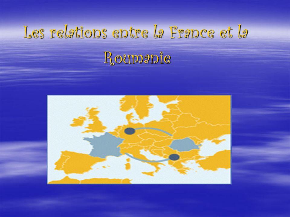 Les relations culturelles entre la Roumanie et la France sont intenses La Roumanie est le premier pays francophone dans lequel le français nest ni la langue maternelle ni la langue officielle.