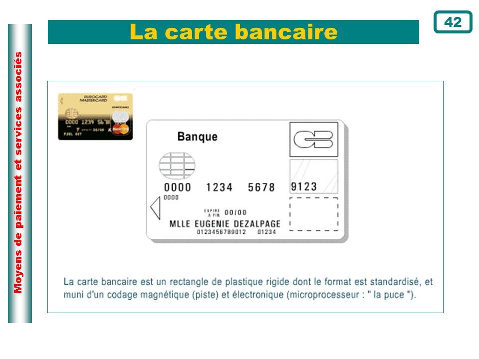 Moyens de paiement et services associés La carte bancaire 42