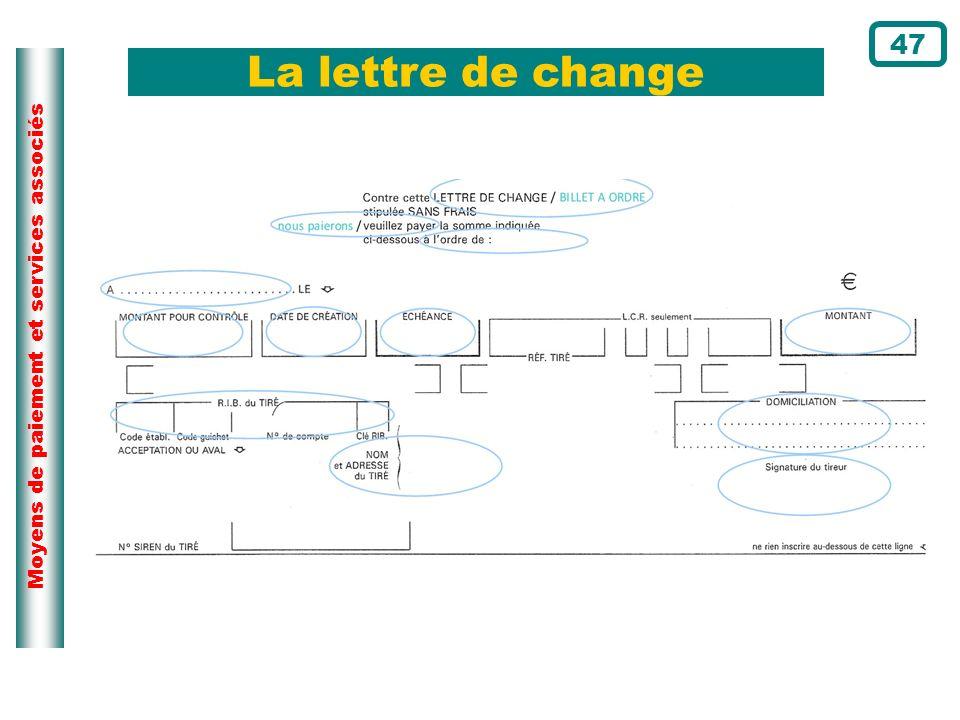 Moyens de paiement et services associés La lettre de change 47