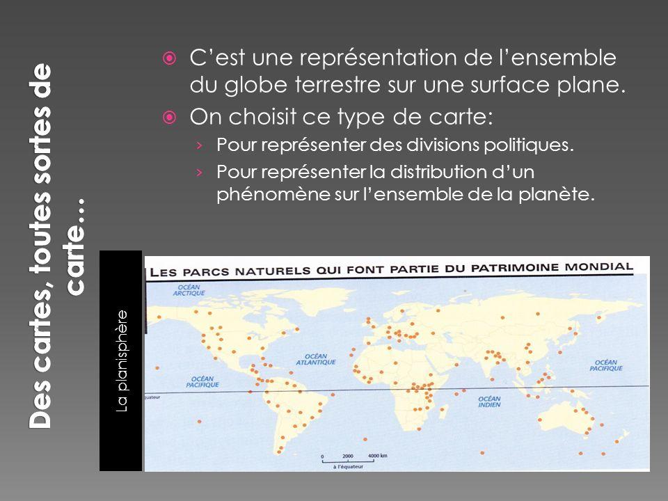 La carte thématique Pour représenter la distribution dun phénomène à léchelle locale.