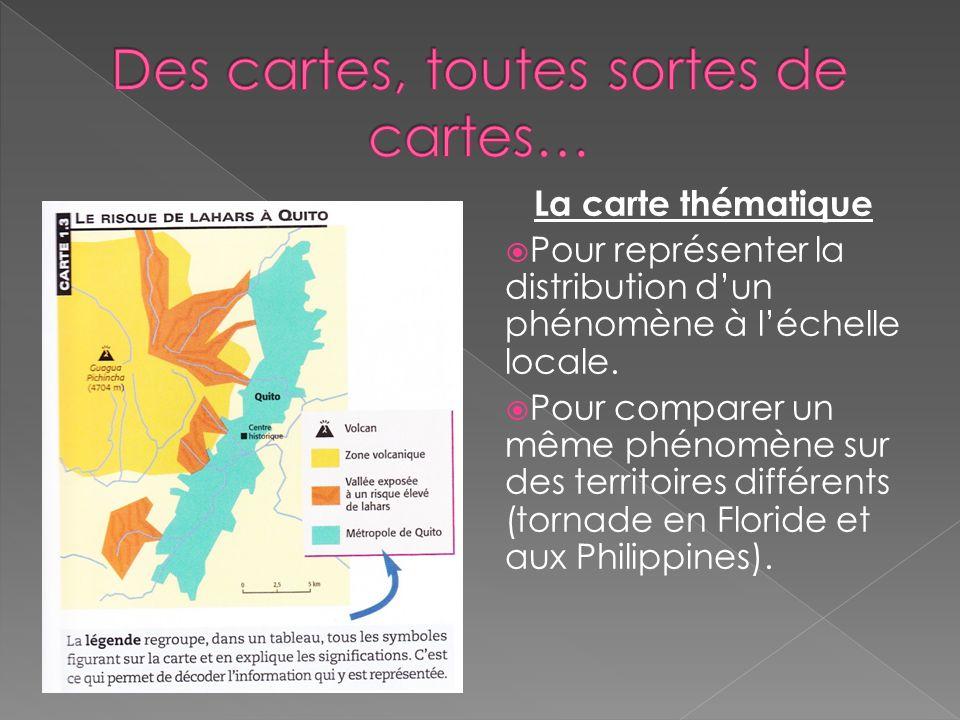 La carte routière Sert à localiser les différentes localités dun territoire, les routes et la distance qui les relient.