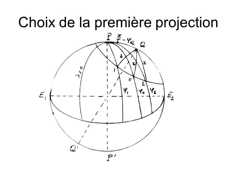 Choix de la première projection