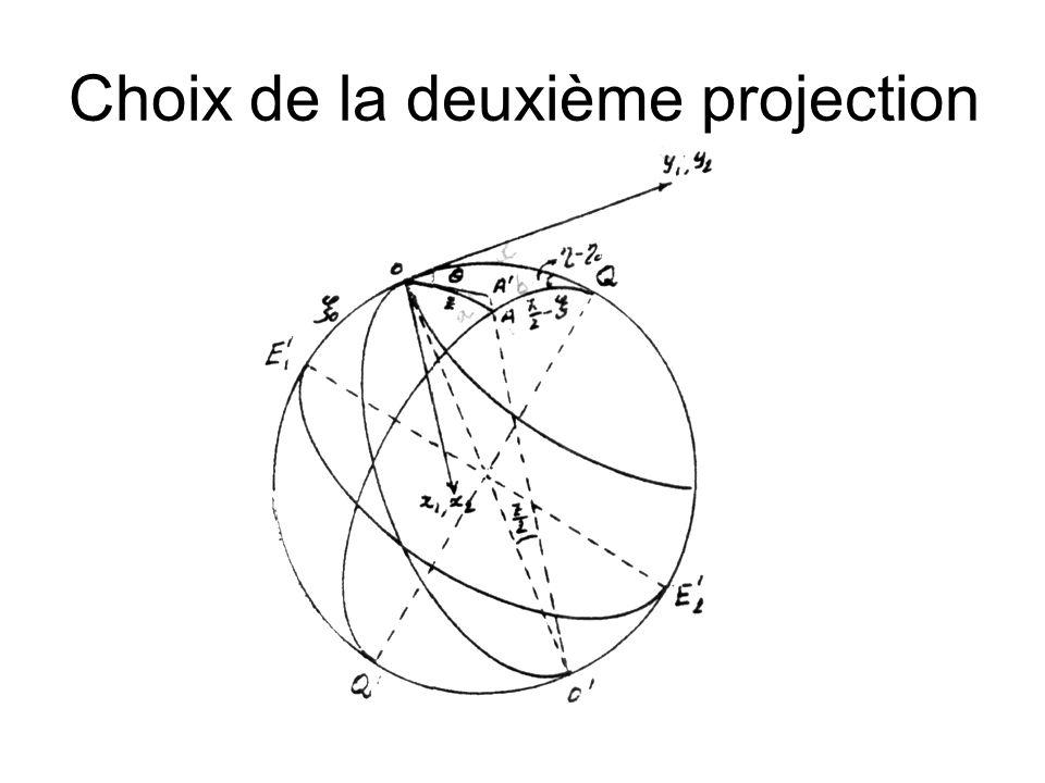 Choix de la deuxième projection
